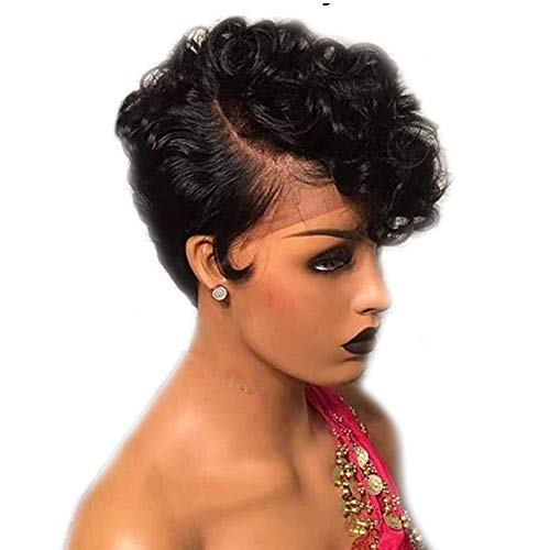 Lace Front Short Human Hair Wigs For Black Women Pre Plucked Bob Wig Remy Brazilian Glueless Hair Wigs Buy Online In Gambia At Desertcart