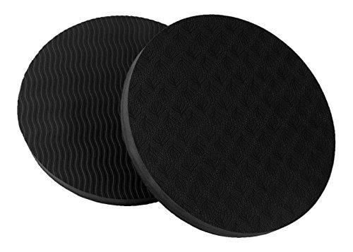 GoYonder Eco Yoga Workout Knee Pad Cushion Black (Pack of 2)