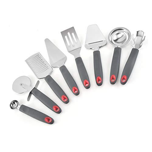 DAGONGREN 7 unids/Set Herramientas de Cocina de Acero Inoxidable Cocina Utensilios de Cocina Conjunto de Cuchara Gadgets de Cocina Gadgets Conjunto de Utensilios de Cocina Antiadherente