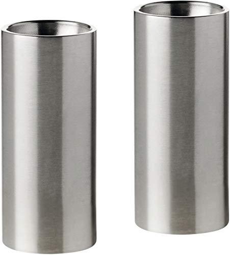 Stelton Salz & Pfefferstreuer aus Edelstahl, designed von Arne Jacobsen, desgn-familie: cylinda line, H: 6,3 CM, Ø: 2 CM