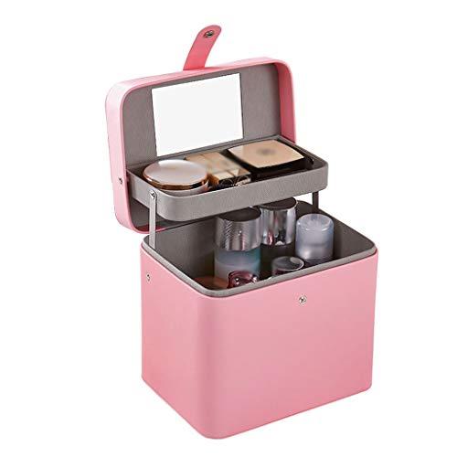 Sac cosmétique Multi-Fonctionnel Sac de Stockage cosmétique Multi-Fonctionnel Simple portatif Sac cosmétique portatif (Color : Pink, Taille : Automatic Lifting)
