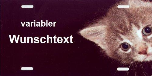 Schilderfeuerwehr Katzenschild mit Namen oder Spruch selbst gestalten und bedrucken lassen ✓ Katzen Zubehör und Artikel ✓ Warnschild ✓ Verbotsschild ✓