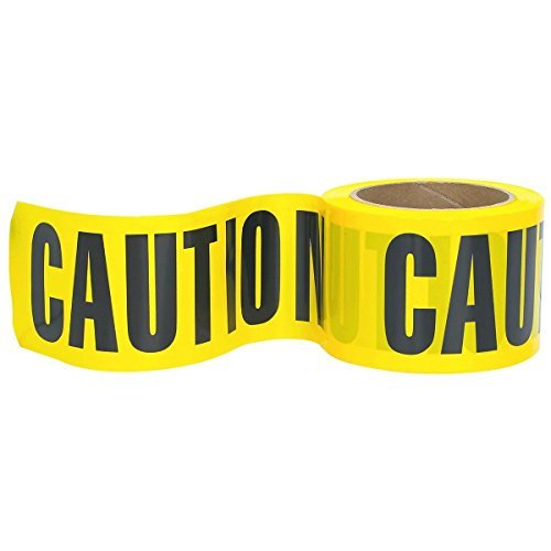 RK High-Visibility Yellow Caution Barricade Tape 3