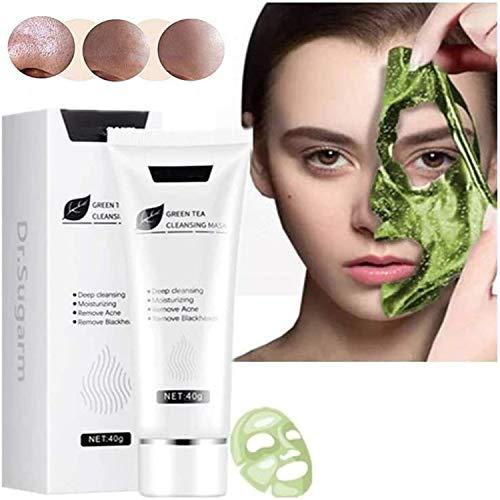 Green Tea Peel Off Mask,Dead Skin Blackhead Remover Face Mask,Blackhead Remover Mask,Natural Deep Cleansing Skin Care for All Skin Types (1PC)