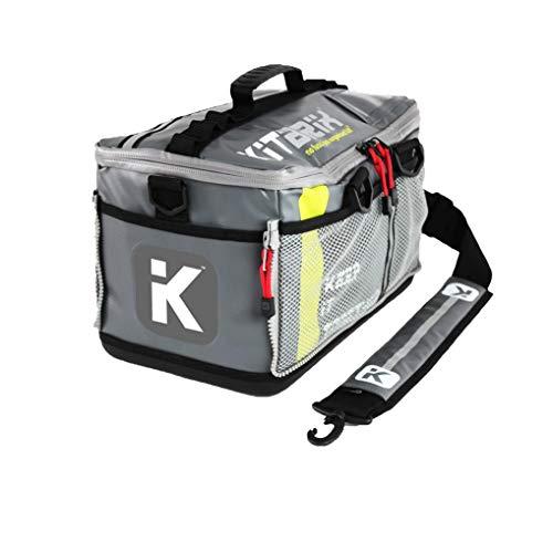 KitBrix Tasche Rucksack - zur Aufbewahrung von Sportausrüstung - für Triathlon Schwimmen Laufen Radfahren & Extrem - Hindernislauf - Grau