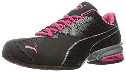 PUMA Women's Tazon 6 WN's fm Cross-Trainer Shoe Black Silver/Beetroot Purple, 6.5 M US