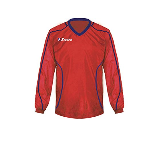 Zeus K-Way Eko Fauno Impermeable Chaqueta Unisex Chaqueta de lluvia Chaqueta de viento Fútbol Sport Rain Colour Azul Rojo (XXXS)