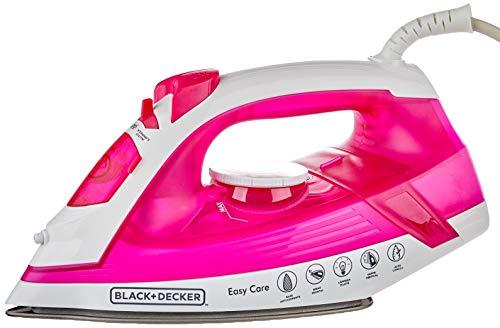 BLACK+DECKER Ferro de Passar a Vapor 1200W Rosa 220V AJ2200