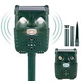 N/U Repelente de gatos por ultrasonidos solar, IP66, impermeable, con 4 modos de animales, ultrasónico, apto para gatos, pájaros y zorros, apto para jardín, granja, patio, etc.