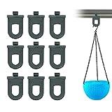AFASOES 10 ganci per serra in plastica per piante da serra da appendere con clip di fissaggio per serre, attrezzi da appendere, senza foratura, supporto per serre, giardini esterni