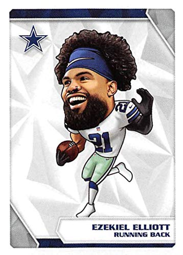 2020 Panini NFL Stickers Football #295 Ezekiel Elliott Dallas Cowboys Fathead Official Football Sticker Collection (Paper thin approx 1.5 x 2 inches)