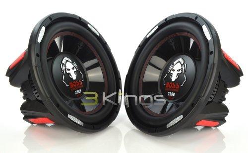 Pair BOSS Audio P126DVC Phantom 12' 4600W Car Power Subwoofers