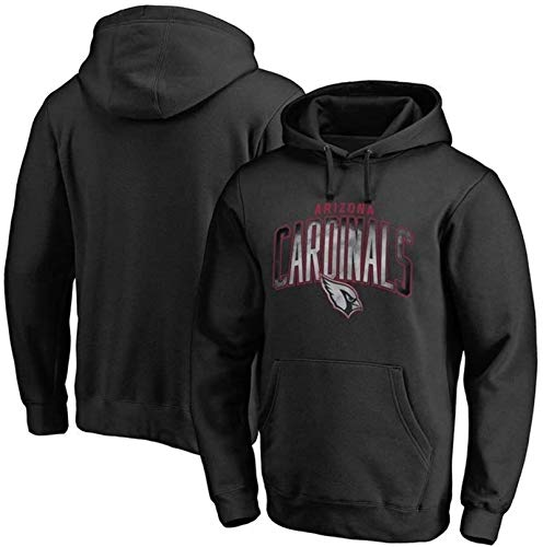 Unisex Sweatshirt, Men's Hoodie American Football Arizona Cardinals New Sweater Breathable Anti-Pilling Soft Casual Wear Training Clothes Super Bowl Fans Gift Jersey (Color : Black, Size : X-Large)