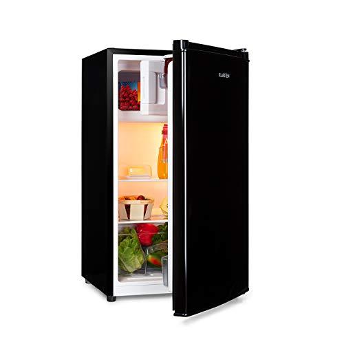 Klarstein Cool Cousin Kühl-Gefrier-Kombination, Fassungsvermögen: 80 Liter, Kühlschrank: 69 Liter, 3-Sterne-Gefrierfach: 11 Liter, Energieeffizienzklasse A++, 2 Glasebenen, schwarz