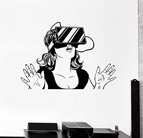 yaonuli Vinyl Muurtattoo Virtual-Reality-headset apparaat sticker tieners meisjes slaapkamer decoratie muursticker