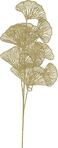 Koopman International b.v Kunstblume Ginkgo Zweig Blatt Kunstpflanze Gold 73cm Basteln Wanddekoration Hochzeit Deko