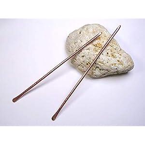 2 Haarnadeln aus Kupfer Metall, Haarschmuck, Haar Accessoires
