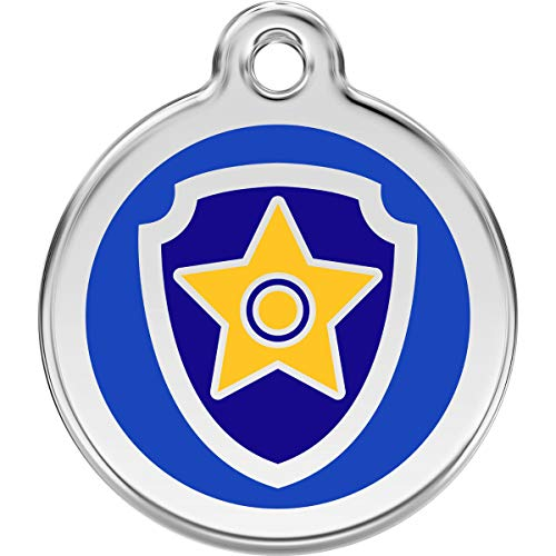 Red Dingo Personalized Nickelodeon Paw Patrol Chase Pet ID Dog Tag (Medium)
