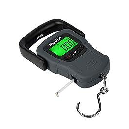 Fishfun LCD électronique Balance Balance numérique de pêche Crochet à Suspendre avec Ruban à mesurer, 49,9kilogram/50kg, 3Piles AAA incluses