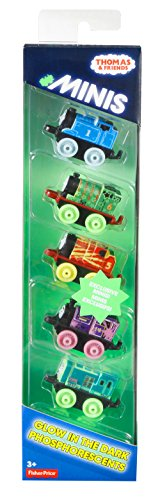 Thomas und seine Freunde DRL94 Thomas & Friends Minis Glow in The Dark Set of 5 Züge