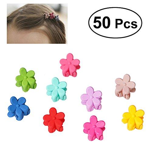 50 PCS Girl's Mini Hairpin Paw Flower Niños Bangs Accesorios para el cabello (colores aleatorios)