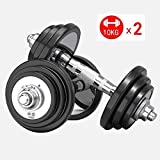 HTZ Dumbbells Barbell Lifting Steel Dumbbell Weight Set Gym Home Bodybuilding Training with Portable Box Home Fitness Equipment