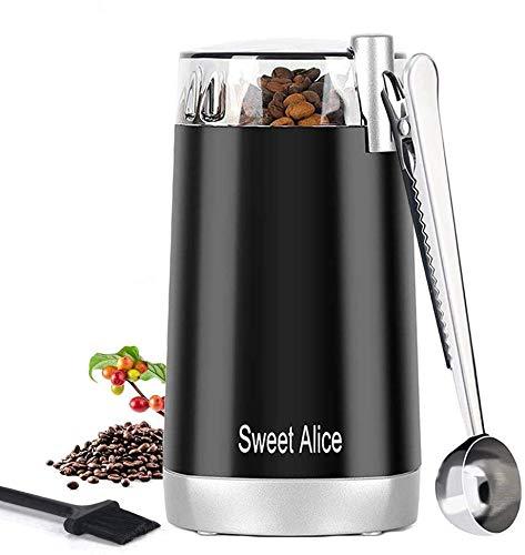 Elektrische Kaffeemühle 150W Tragbar klein kaffeemuehle mit Schlagmesser 45g Fassungsvermögen...