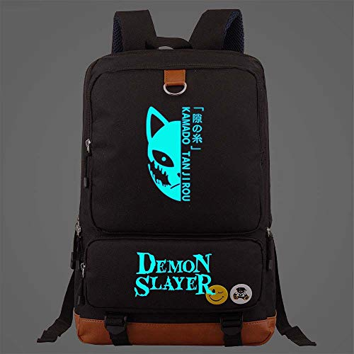 Backpack For High School Girls Boys Teen College Student Womens Mens Kimetsu No Yaiba Black Large Travel Laptop Bags Sport Rucksack Casual Daypacks