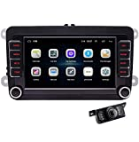Android 10.0 Car Radio GPS Navigation 7 inch Car Stereo Double 2 Din Head Unit for Golf Jetta Skoda 1G RAM 16G ROM with Touch Screen USB SD CANBUS FM AM Bluetooth SWC & Free rear camera