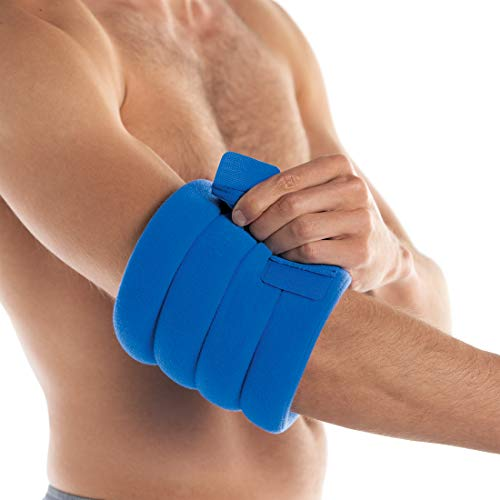 Bed Buddy Joint Wrap - Hot & Cold Therapy for Muscle Pain Relief and Joint Pain Relief - Large Heating Pad for Knee, Wrist, Elbow, Ankle, Arm or Leg, 2 Count