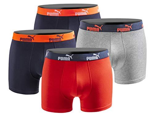 PUMA Boxershort 4er Pack Herren 4 Boxer Edition - red-Navy - Gr. L