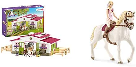 Schleich Horse Club, 44-Piece Playset, Horse Toys for Girls and Boys 5-12 years old Riding Center with Rider and Horses