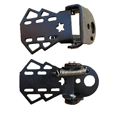 1 paio posteriore della bici pedali della bicicletta pieghevole spina del piede metallo poggiapiedi per bambini adulti Ciclismo Accessori