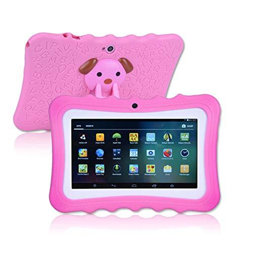 ELLENS Q8 Tablet para niños, Tableta Android de 7 Pulgadas con WiFi, Almacenamiento de extensión de 1GB + 8GB + 32G, Tarjeta SD Bluetooth/Aprendizaje/Juegos (Rosa/Azul/Verde)