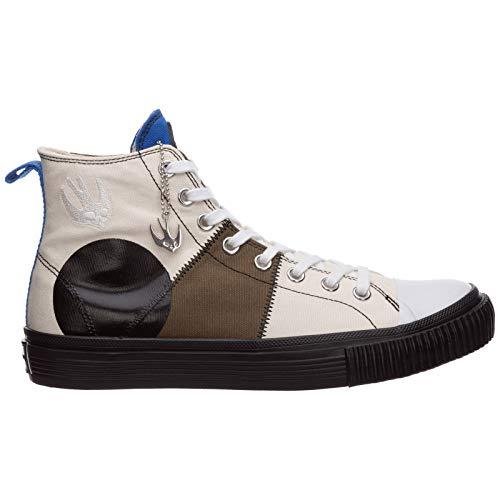 MCQ Alexander McQueen Hombre Swallow Capsule Zapatillas Altas Khaki Skate Blue Mix 43 EU