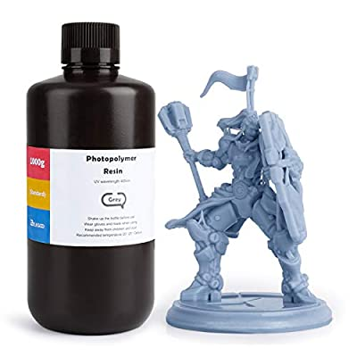 ELEGOO ABS-Like 3D Rapid Resin LCD UV-Curing Resin 405nm Standard Photopolymer Resin for LCD 3D Printing Grey 1000g