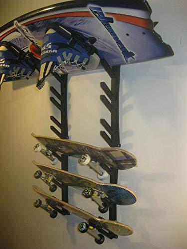 Ski snowboard skateboard wakeboard sport storage display holder wall mount rack