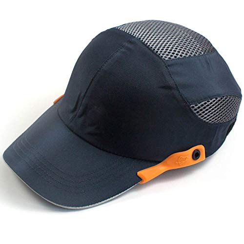 ヘルメット 防災 プロテクターキャップ 内蔵 メッシュ インナーキャップ 安全帽 軽量 作業ヘルメット 防災用キャップ 保護帽子 汗を止める 通気 速乾 吸汗 熱中症対策用 (ネイビー)