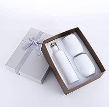 Ülla Stainless Steel Wine Tumbler Bundle - 2 Wine Tumbler with Lids & 1 Wine Growler Gift Set Kit - Vacuum Insulated 18/8 Stainless Steel Tumblers (White)