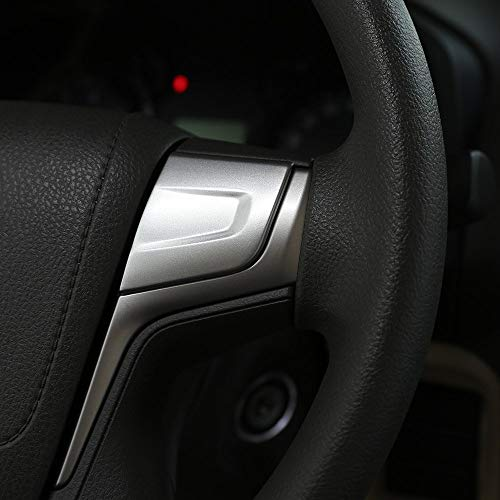 Accessoires en Plastique ABS de Volant de décoration Garniture de Voiture Argent Mat pour Land Cruiser Prado FJ150 150 LC150 2010-2018
