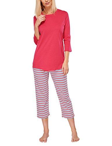 Seidensticker Damen Anzug 3/4 Zweiteiliger Schlafanzug, Rot (pink 504), 36