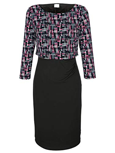 Alba Moda Damen Kleid Schwarz 42 Viskose