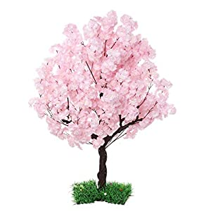 SPKTCULR Artificial Blossom Cherry Tree, Silk Sakura Flowers Tree, Faux Peach Flowers Tree for Wedding Home Decor Indoor or Outdoor 59″
