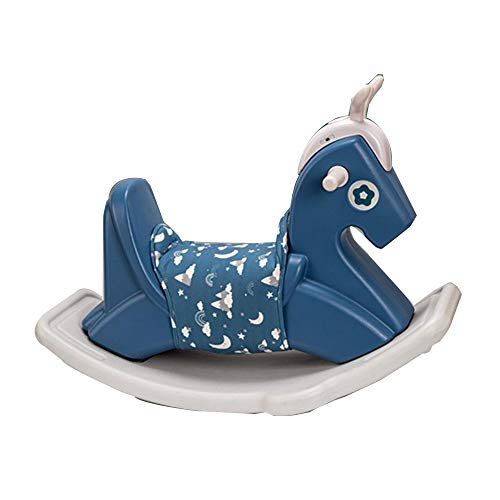 Fantastic Deal! YUMEIGE Rocking Ride-Ons Boy Girl Rocking Animal,Kids Ride-On Toys/Horse、PE Material、Rocking Horse,Indoor and Outdoor Swing Toys, Exercise Balance、Rockers & Ride-ons,1-6 Years Gift (Color : Blue)