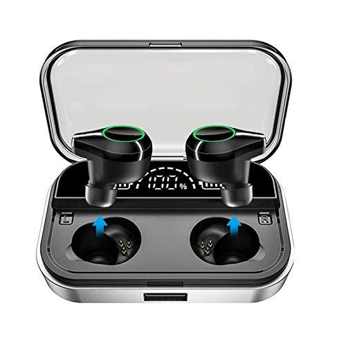 Gojiny Auriculares inalámbricos BT5.0 verdadero auricular inalámbrico Hi-Fi estéreo auriculares con funda de carga y micrófono para deporte