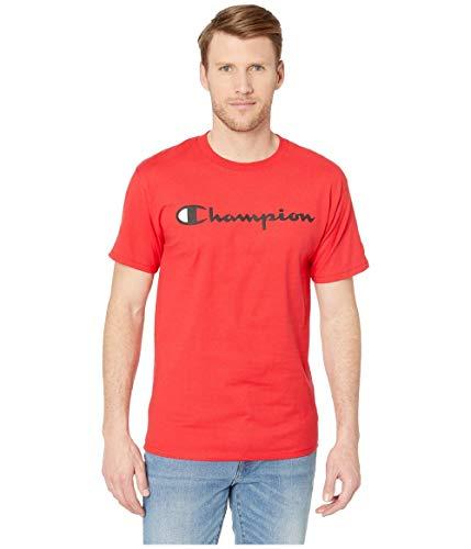 Champion Classic Jersey Script T-Shirt, Rosso Scarlatto, M Uomo