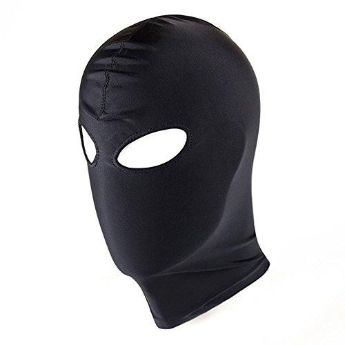NOPNOG Nylon-Kopfbedeckung für Männer, Schwarze Rückhalte-Kapuzenmaske, Erotisches Spielzeug für Paar-Cosplay (Stil 2)