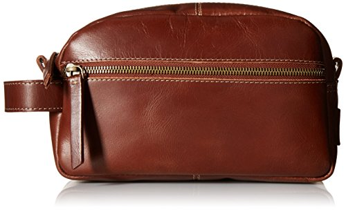 Timberland Men's Nevada Leather Travel Kit, Cognac