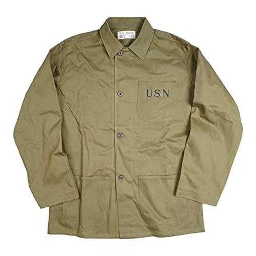 JXS Chaqueta USN, réplica de Madera contrachapada de la Marina, Uniforme Retro Americano, Material de algodón, Uniforme conmemorativo WW2,42