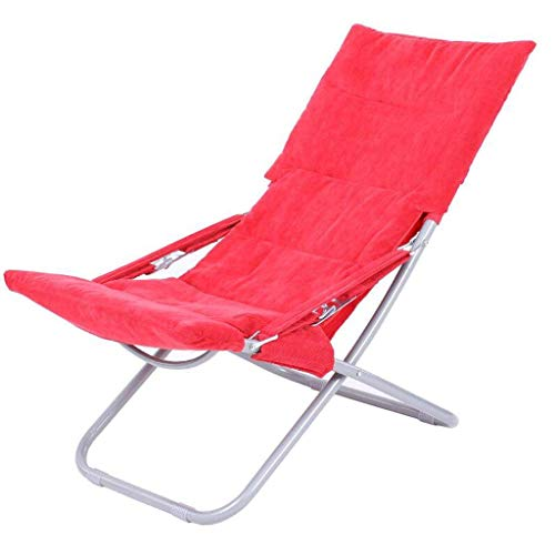 Yuany Chaise Rollsnownow Chaise Longue Rouge Pause déjeuner Pliante Chaise Longue Hiver et été Double Usage